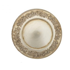 Floral Champagne Melamine Charger