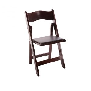 Mahogany Padded Folding Chair