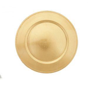 Gold Foil Melamine Charger