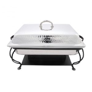 8 Quart Hammered Stainless Chafer