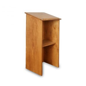 Oak Wood Finish Podium