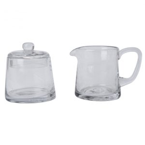 Glass Suger and Creamer