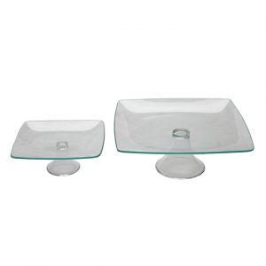 Soho Glass Pedestal Stands
