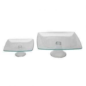 Soho Glass Pedestal Stands