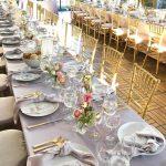 Gold Ballroom and Grey linens