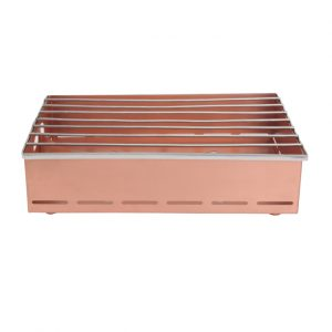 Brushed Copper Rectangular Burner
